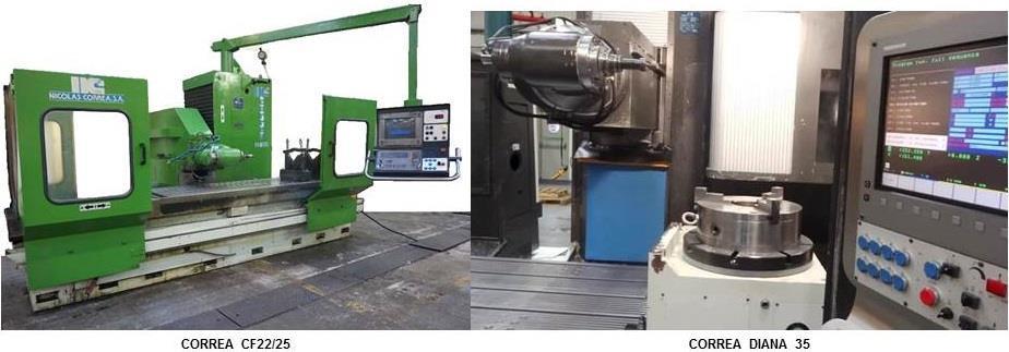 Correa DIANA 35 y Correa CF22/25 second hand milling machines