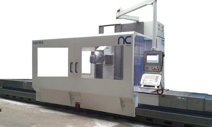 Bed type milling machine CORREA CF40/50 refurbished by NC Service