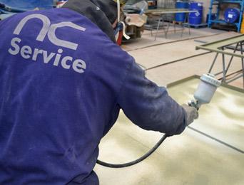 Ajuste, reparación o sustitución de componentes mecánicos