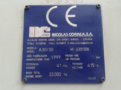 Fresadora bancada fija CORREA A30/30 Año 1999