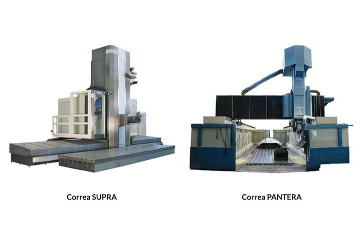 Second hand Correa SUPRA and Correa PANTERA milling machines