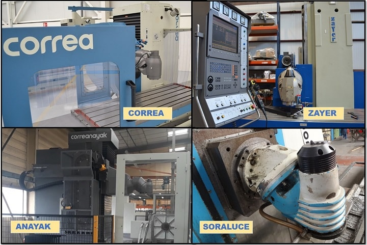 Correa, Zayer, Soraluce y Anayak second hand milling machine