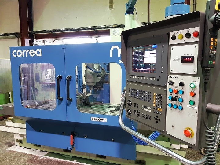 Second hand CNC milling machine NICOLAS CORREA refurbished by NC Service