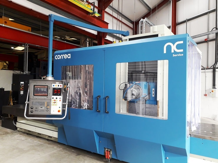 NICOLAS CORREA milling machine refurbished by NC Service