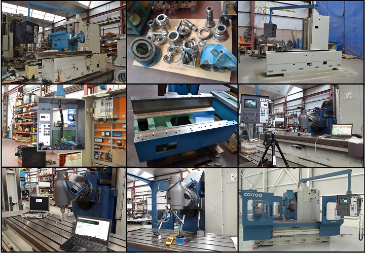 Refurbishment process of the CORREA CF22/20 milling machine