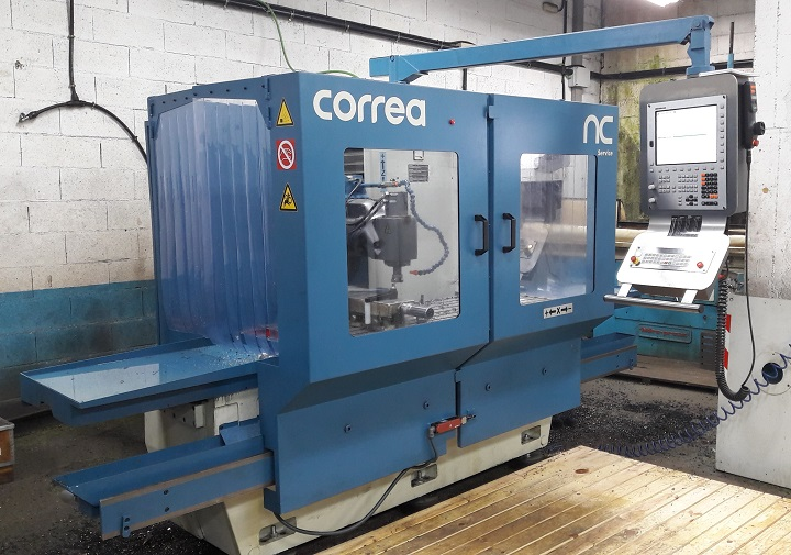Bed type milling machine CORREA A10 overhauled by NC Service