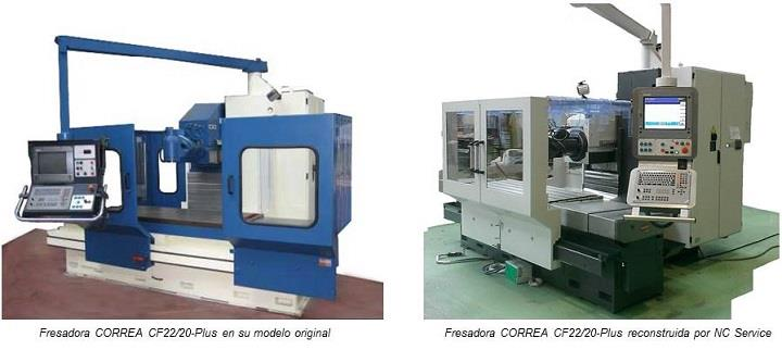 Fresadora CORREA CF22/20-Plus reconstruida por NC Service