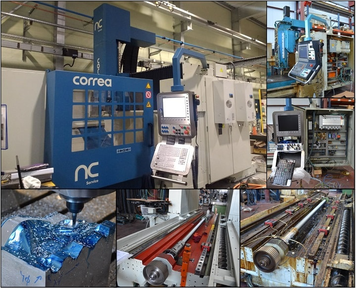 Refurbishment of a high speed CORREA EURO2000 milling machine