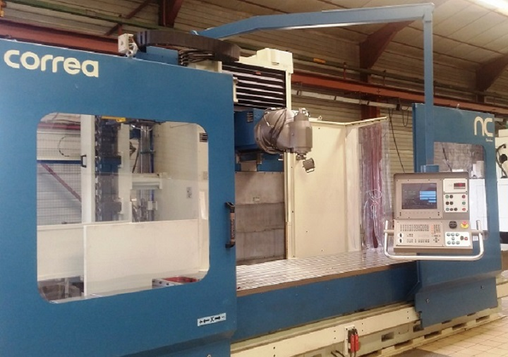 Bed type milling machine CORREA A30/30 refurbished by NC Service