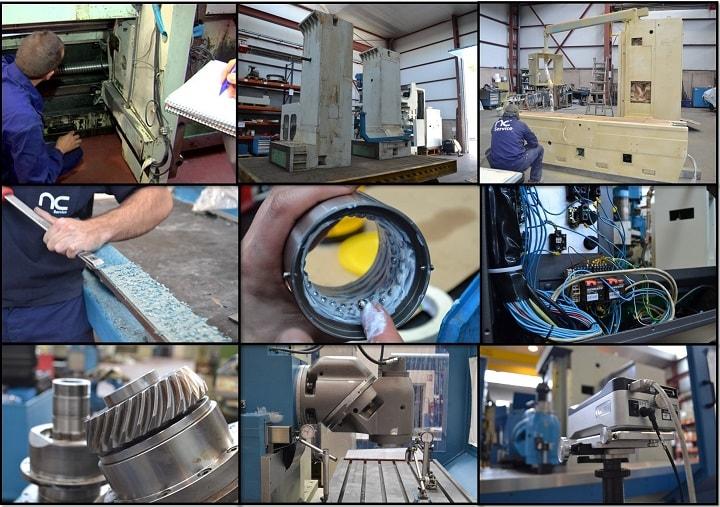 Proceso de reconstrucción de fresadoras por Nicolás Correa Service