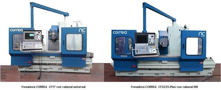 Retrofitting of second hand milling machines CORREA CF17 y CORREA CF22/25-Plus