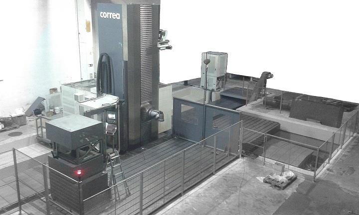 Second hand milling machine CORREA SUPRA 120 CAC installed by NC Service