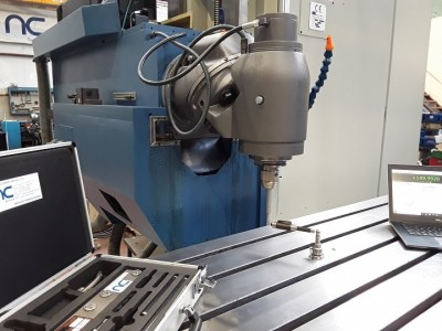 Ballbar test during a second hand milling machine refurbishment