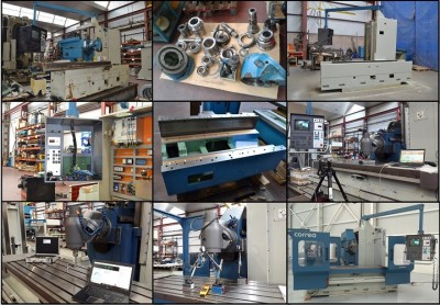 Refurbishment process of the CORREA CF22/20 milling machine