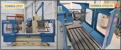 Fresadoras CNC de bancada fija CORREA CF 17 y CORREA CF 22/25