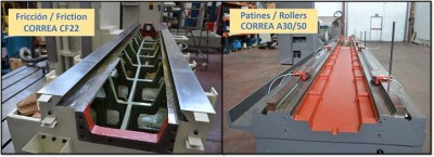 Friction guide and Rolling guide Nicolás Correa Service milling machines