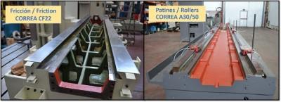 Guiado de fricción y guiado por rodadura fresadoras Nicolás Correa Service