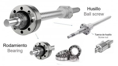 Bearings and ball screws - Second hand milling machine